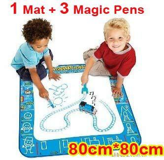Free shipping Discount American Thomas Aquadoodle Aqua Doodle Drawing Mat + 3 Magic Pens /Water Drawing Replacement Mat 80*80cm