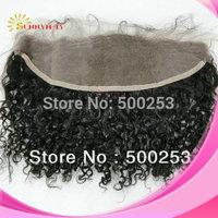 "Sunnymay Curly Brazilian Virgin 13""*4"" Human Hair Lace Frontal"