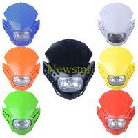 Dirt bike Headlight Off Road Motorcycle Universal LED Vision Headlight H4 headlight as acerbis 7 colors