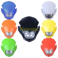 Dirt bike Headlight Off Road Motorcycle Universal LED Vision Headlight H4 headlight as acerbis 7 colors