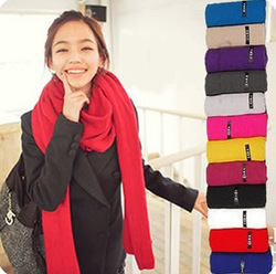 Free shipping Special offer sellers scarf pure color long scarf knitted shawl collar / 180 / * 45 autumn winter is necessary(China (Mainland))