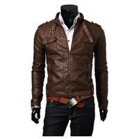 2014 Men PU Leather Jacket  Autumn Winter Suit Men Fashion Slim Coat Free Shipping MWP007