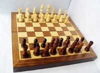 Classical Folding Wooden Wood  Chess Set Board Games Family Wood Chess freeshipping Fold
