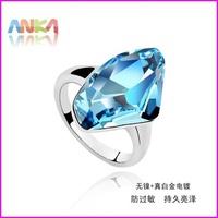 Top Quality! Big Crystal Ring Wedding Jewelry Made With Swarovski Elements #76805