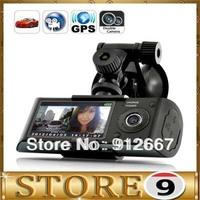 Best 5.0M Dual Camera Car Blackbox DVR with GPS Logger and G-Sensor