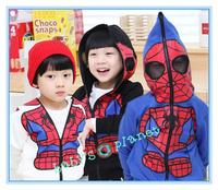 new freeshipping Spider-Man children clothing kids clother sweatshirt hoodies autumn&winter sweater cartoon boy coat 5pcs/lot