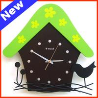 Wooden Cartoon Wall Clocks For Baby Room Personality Fashion Wall Clocks For Wedding Room Free Shipping NZ09