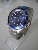 Free Ship,2013 New  Men's Luxury Automatic Stainless Steel  Wrist Watch,Perpetual Swiss Design,Shine Blue dial ,Best Gift