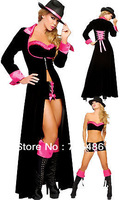 Hot Selling Christmas Costume Halloween Party Costume Fancy Party Dress Magnificent Pimp Costume
