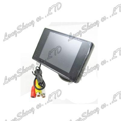 "Mini 3.5"" 2CH video car LCD Monitor for Car Backup reverse camera rear view(China (Mainland))"