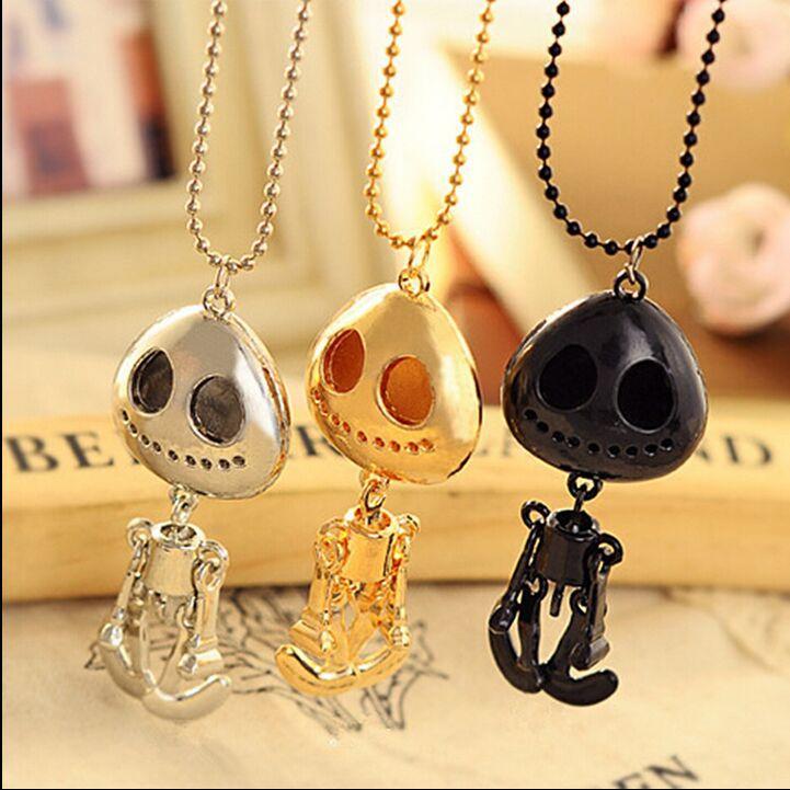 big eyes UFO skeleton head grows necklace+ Free Shipping#B07(China (Mainland))