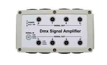DMX DMX512 8 Channel Output LED Controller Signal Amplifier Splitter Distributor