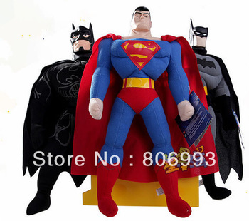 2012 Xmas retail superman black mask batman plush toys 16inch christmas gift