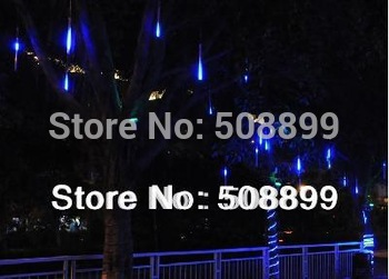 Free Shipping Blue Color LED Meteor Shower Rain Tube Lights Outdoor Tree Decoration hot selling now. &Dropshipping