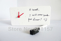 Free shipping New Arrival Memo Clock Alarm Clock With Message board