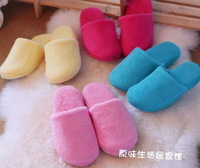 Free Shipping Female/Coral fleece/candy-colored/Household slippers/Slip bottom/Autumn and winter cotton slippers