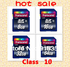 Retail Wholesale Full Capacity Transcend SDHC Class 10 C10 SD Memory Card 2G 4GB 8GB,16GB,32GB,64GB sdhc memory cards  Free ship