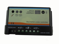 20A Duo-battery solar regulator, solar charge controller 12/24v, for two battery