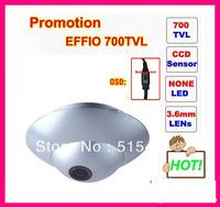 Promotion 1/3'' Sony Effio 4140+811 700 TVL CCD board  Wide Angle 90 degress Dome/mini Camera.Free Shipping