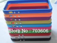 For Apple iPhone 5/5G 5S Colorful TPU Bumper Frame Case Free Fedex Shipping 1000pcs