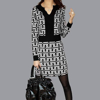2014 women autumn and winter dress,New 2014  fashion women/ladies/female plover wool office dresses,woman winter dress