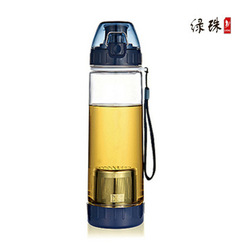 Lv zhu travel pot elegant filter tea cup travel water bottle outside sport water pc bottle pot 600ml include the cup sleeve(China (Mainland))