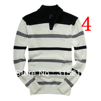 promotion! Man's sweater Cotton Stylish half zipper pullovers Long Sleeve Casual sweater coat Men 's coat Tops