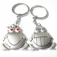 Small home hippo1 frog couple key chain gift male key chain key ring