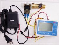 "Hall effect G1/2"" water Flow Counter/Sensor 1-20L/min with Digital LCD Meter Gauge 10-24V ULECF7 Flow Reader Free Shipping"