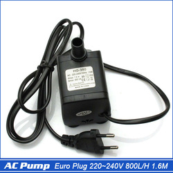 Euro Plug MINI AC Water Pump, Submersible 800L/H 1.6M 220~240V 15W for Fish Tank Aquarium Micro Water Circulation Freeshipping(China (Mainland))