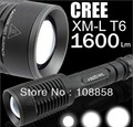 Free shipping ! CREE 1800 Lumens T6 LED Bulb Scalable Zoomable 18650 Flashlight Lamp Light F011(China (Mainland))