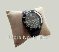 Free shipping, New Fashion 2014 Military Style  Royal Army Mens Quartz  Wrist Watch,3 Eye dial Design  Rubber Strap.