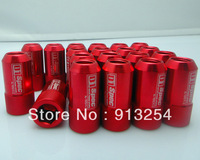 New Arrival! 7075 D1 Spec Racing Nut aluminium Wheel Nuts P1.25 (40mm)/P1.5 (50mm) 20pcs Racing Lug Nuts