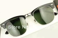 Best selling! 1 pcs fashion designer Sunglasses Men's/Women's brand sun glasses, black frame  green Lens.