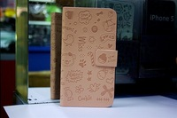 fashion leather case for samsung N7100,Nnote 2