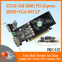 100% NEW NVIDIA GeForce GPU GT210 1GB DDR2 VGA/DVI/HDMI Low Profile PCI-Express Video Card Free Shipping via HKPAM