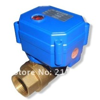 AC/DC9-24V BSP3/4'' reduce port electric ball water valve CR03/CR04 wiring for heating water control systems