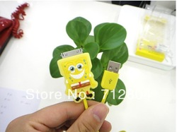 cartoon USB data cable for iphone4 /4s 20pcs/lot(China (Mainland))