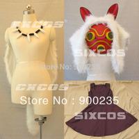 Princess Mononoke San Cosplay Costume full set + Mask   eli0374-B
