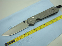 Chris Reeve D2 Blade Sebenza 21 Style Full TC4 TITANIUM Handle Folding knife FREE SHIPPING DF01