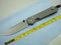 Chris Reeve D2 Blade Sebenza 21 Style Full TC4 TITANIUM Handle Folding knife FREE SHIPPING DF01