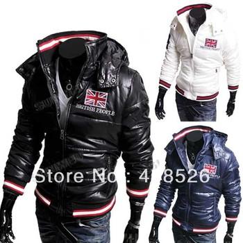 Korean Flag Zip Up Men's coat, Hooded Coat  Winter down jacket, M/L/XL/XXL 3colors Free shipping 8161