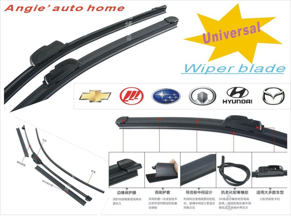 Universal auto wischblatt 14 24in naturkautschuk auto scheibenwischer