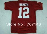 Alabama Crimson Tide #12 Joe Namath Crimson Pro Combat College Football Jersey -Free Shipping