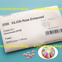 ss16 GENUINE Swarovski Elements AB Crystal Clear ( 001AB ) 1440 pcs ( NO hotfix Rhinestone ) 4mm Round 16ss 2058 FLATBACK Bulk