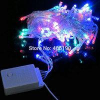 50pcs/lot LED Strings Fairy Light Christmas Tree Decoration Light 10M 100LEDs 110V/220V US/EU Plug Holiday/Party/Decoration