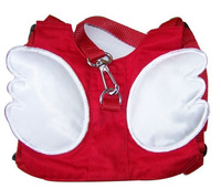 Red Angel wing Toddler Safety Harness kid Cotton Reins Baby Sling Backpack Child Walker Buddy Carrier Infant Back Pack