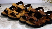 Camel Sandals Men's Sandals Slippers Genuine Leather Male Sandals Casual Shoes Free Shipping!