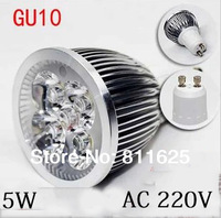 GU10 LED Bulb lamp 85~265V 5W 500-550LM led Spotlight White/Warm white led lamp free shipping