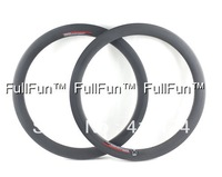 FULLFUN Carbon Rims 20er 38mm 451 20'' Clincher Rims Folding Bike Full Carbon Wheels 3K Matte 20/24 holes Road Bicycle